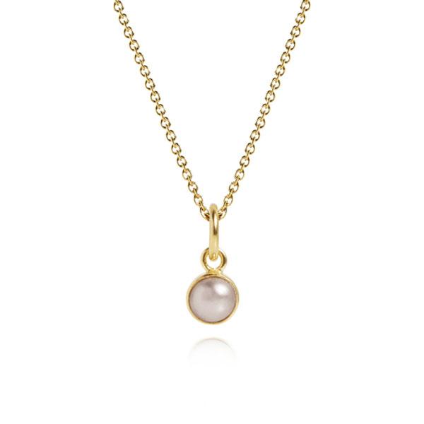 0f19ad85639 ... Carré - Vedhæng i forgyldt sterling sølv sat med rosa perle - Carre  Archive ...
